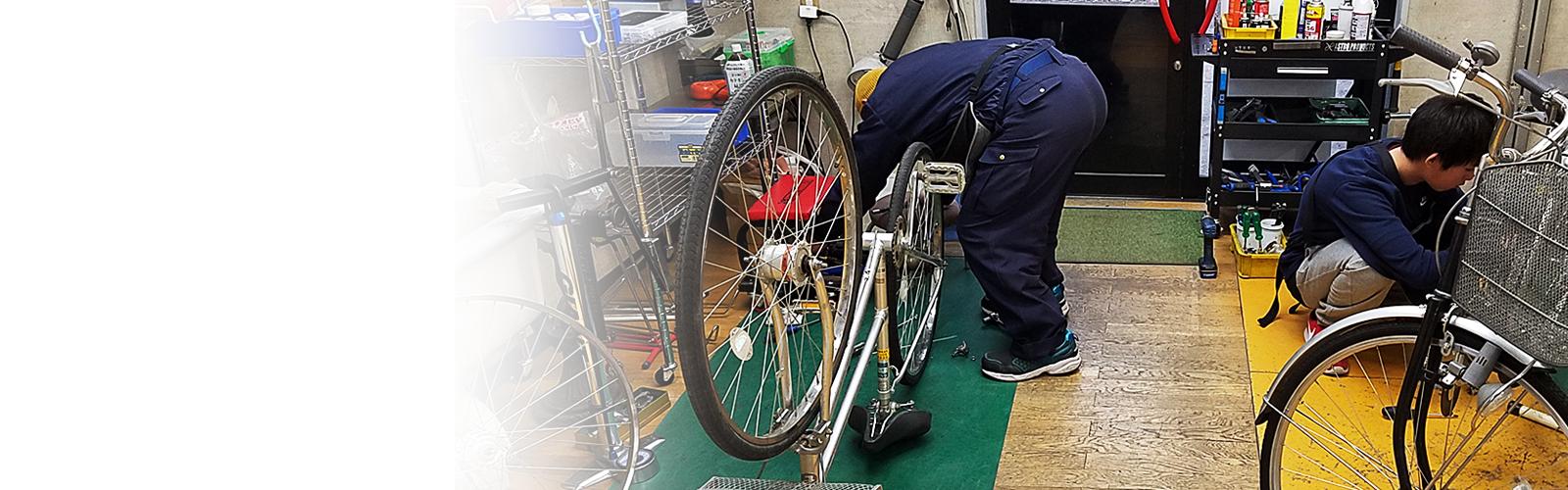上田市の自転車修理